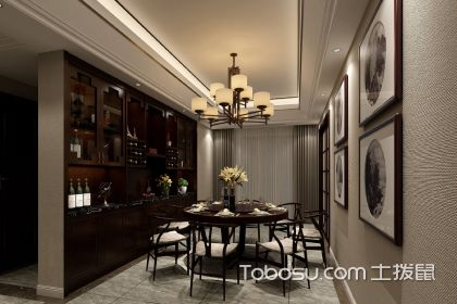 餐厅新中式装修效果,新中式风格餐厅设计