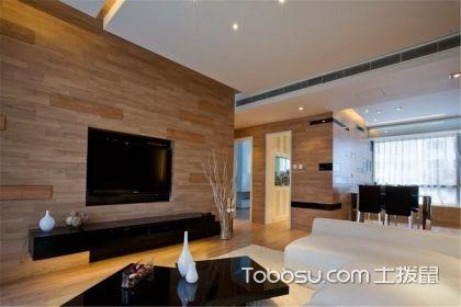木质电视背景墙效果图,温润实用的木质生活体验