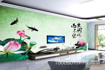客厅背景墙墙纸,家中也能有靓丽的风景线