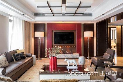 客厅红色电视背景墙装修图欣赏,好设计实用格调兼并