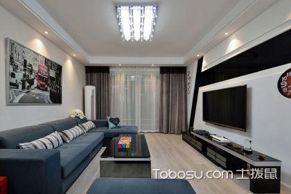 兩室一廳后現代裝修風格案例,優雅品質生活從這里開始
