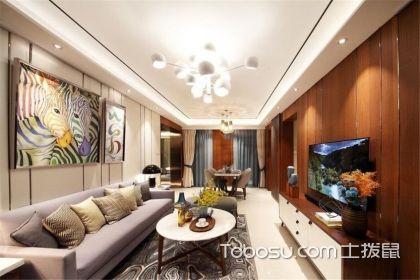 木地板上墙装修效果图,客厅还可以这样设计