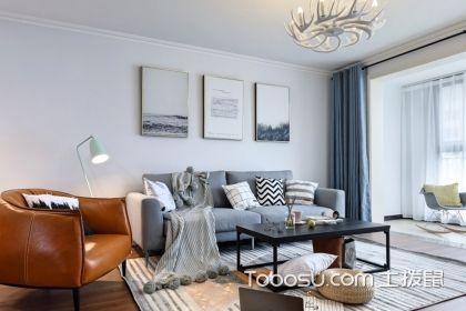 北欧简约客厅效果图欣赏,清新简约的家居更温馨