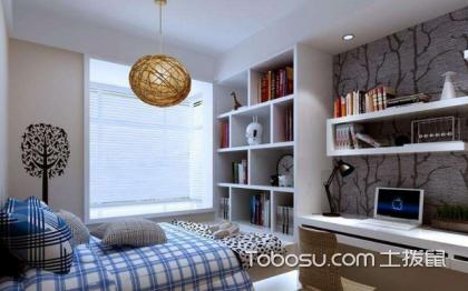 书房卧室一体装修效果图,巧妙设计空间一变二