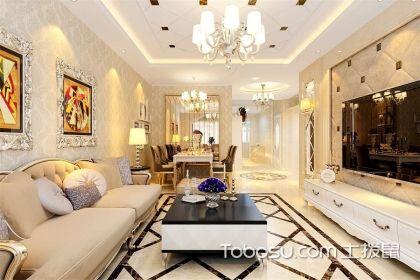 简欧客厅装修效果图,教你简约低调的客厅装修