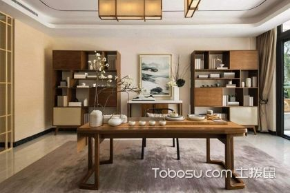 书房兼茶室装修效果图赏析,这种设计你见过吗?