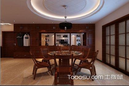 中式餐厅靠墙柜效果图欣赏,中式餐厅装修的好选择