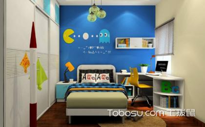 儿童房背景墙设计,不同风格的蓝色背景墙