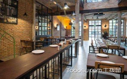 工业风餐厅装修效果图,让餐厅充满色彩