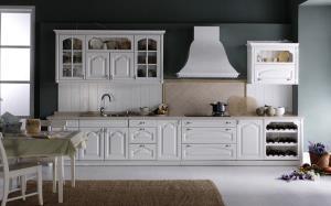 【欧式橱柜】白色欧式橱柜以及相关搭配效果图片