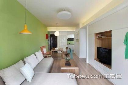 80平米小戶型簡約裝修案例解析,原來青綠色的家更美