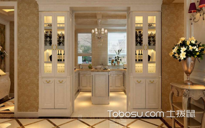 厨房两边酒柜效果图,让家中更有情调