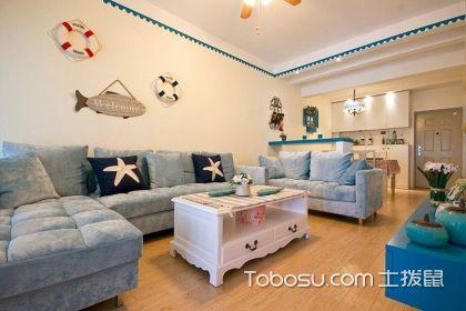 80平米房子装修效果图欣赏,感受纯美地中海风