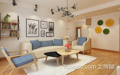沙发背景墙案例,清新典雅的背景墙设计
