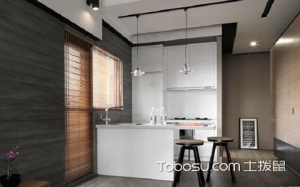 小户型开放式厨房吧台,高颜值的厨房设计