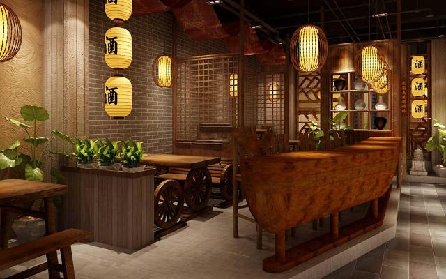 餐馆装修效果图,最合适的餐馆设计方案