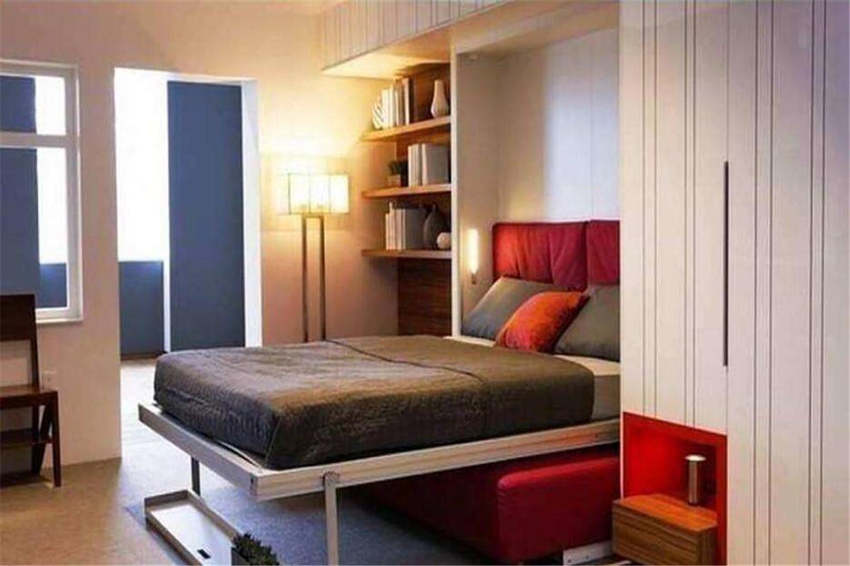 实木隐形床效果图,给你节约空间新选择