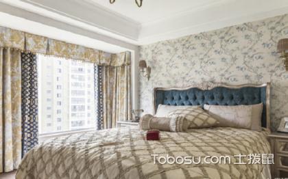 美式卧室窗帘装修效果图,窗帘搭配很重要
