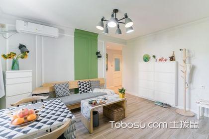 两室一厅带阁楼装修图案例,被豆绿的主卧给惊艳到了