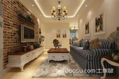田园风格电视背景墙效果图,给你一个清新淡雅的田园之家