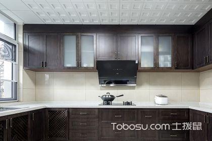 中式厨房装修效果图,让烹饪变得更有格调