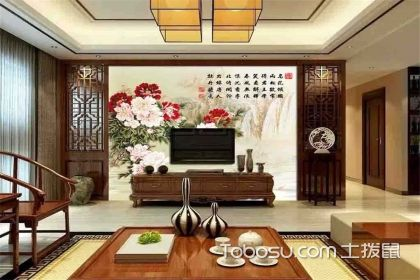 中式风格电视背景墙设计案例,带你感受动人风采