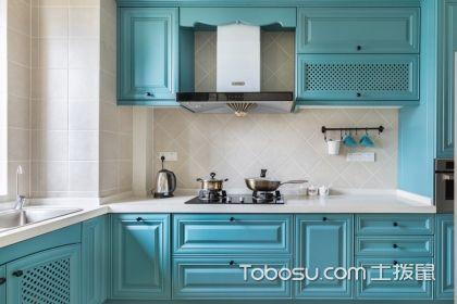 蓝色厨房装修效果图,让你家的厨房更加清爽舒适