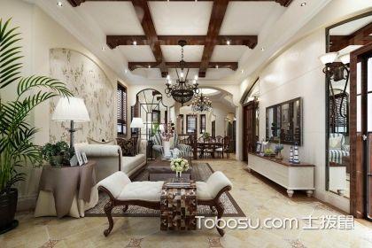 美式田园风格客厅背景装修,美式田园风格客厅背景墙材料有哪些