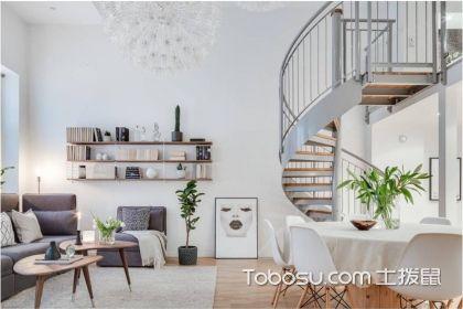54平米跃层房屋装修效果图,楼梯的设计绝对是亮点