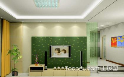 绿色电视背景墙效果图,清新养眼的背景墙