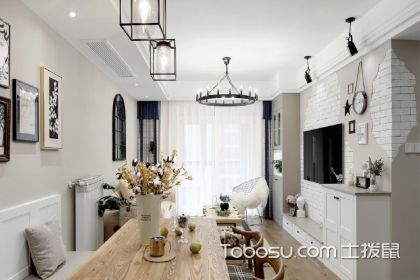 100平方三房兩廳裝修圖,混搭風格裝修案例推薦