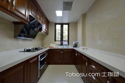 长方形厨房装修效果图,长方形厨房装修怎么设计