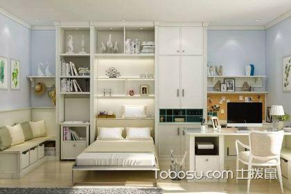 小户型书房兼客房装修效果图,多功能的设计简单又实用