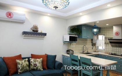 蓝色厨房装修效果图,小厨房装修案例