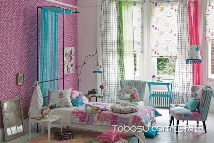 女孩兒童房窗簾選購技巧說明,給孩子一個時尚靚麗的房屋