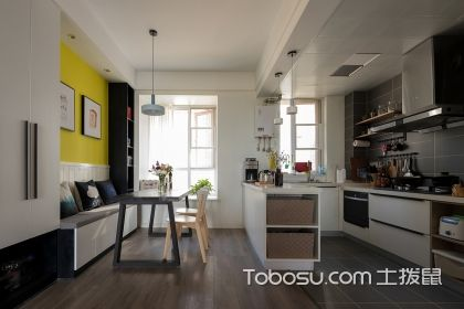 小平米开放式厨房u乐娱乐平台技巧解析,让厨房时尚又实用