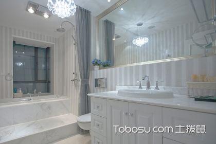 卫生间浴帘效果图欣赏,这样设计卫浴间实用又美观