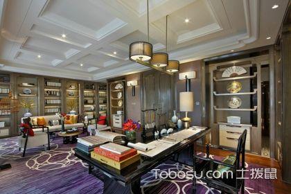 中式古典书房装修效果图,感受文化味十足的书房设计