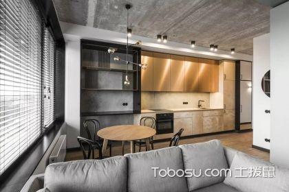 厨房餐厅装修效果图,一体化的设计实用又方便