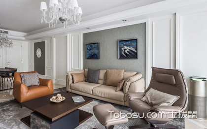简单客厅背景墙,感受时尚客厅空间