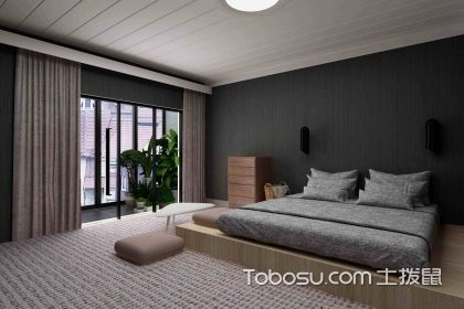 男士卧室装修设计效果图,现代简约风格设计