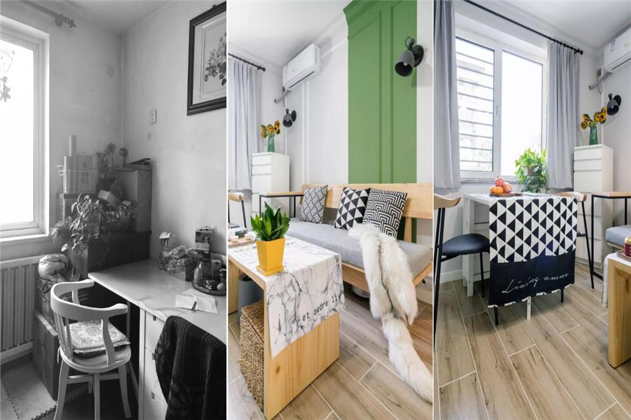 80平米旧房翻新案例,看设计师如何给旧房换新颜