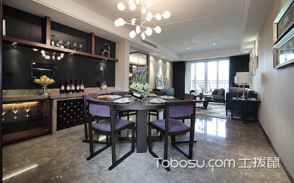 餐厅简约酒柜效果图,提升空间的档次