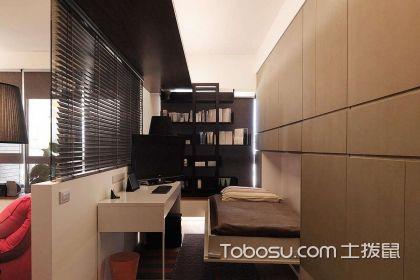 書房臥室一體裝修效果圖,書房臥室一體怎么設計