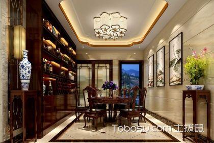 中式餐廳酒柜效果圖,中式餐廳的酒柜設計有哪些特點