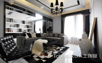 后現代黑白灰裝修風格,冷艷高貴的客廳設計