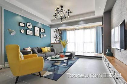 86平米简约北欧风装修案例,清新色彩为您打造一个温馨小家