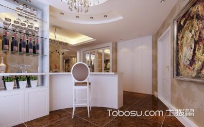 简欧式餐厅酒柜效果图,酒柜也可以如此奢华