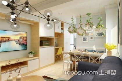 小户型一室一厅装修效果图,一个精美实用的北欧小家