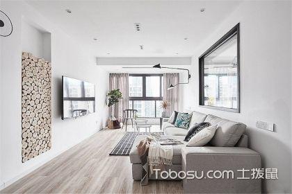 100平米北欧风格家装案例,用白色装点居室空间